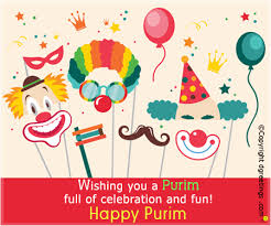 purim cards wishing you a purim of celebration purim cards