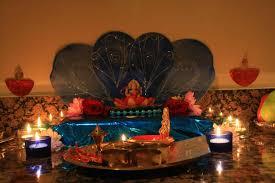 room diwali puja decoration at home design mandir lamps doors