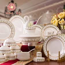 top quality bone china crockery in dinnerware set of 56 luxury
