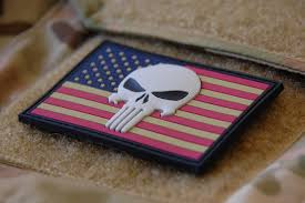 American Flag Morale Patch Punisher Us Flag Pvc Patch Tactical Outfitters