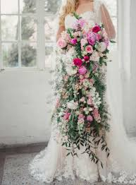 cascading bouquet pink and greenery cascading bouquet by l b floral elizabeth