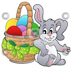 rabbit easter basket basket easter bunny clipart explore pictures