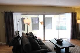 hide vertical blinds with curtains home design and decoration