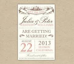 vintage save the date save the date custom printable template by bejoyfulpaper