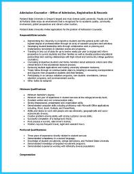 Sample Mental Health Counselor Resume Admission Counselor Resume Free Resume Example And Writing Download