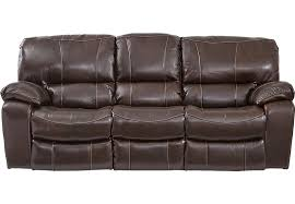 Rooms To Go Sleeper Loveseat Sanderson Walnut Leather Reclining Sofa Leather Sofas Brown