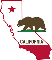 california map outline clipart california outline and flag solid