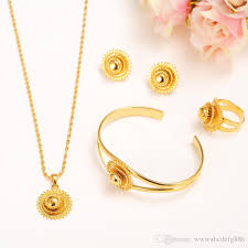 gold pendant necklace set images 14k yellow solid fine gold filled jewelry set bride glaze jpg