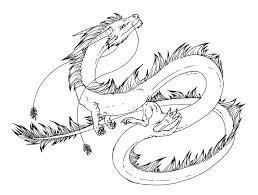 free lineart eastern dragon dreikaz deviantart