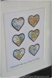 wedding gift map diy heart map living well spending less