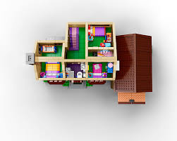 742 Evergreen Terrace Floor Plan Lego X The Simpsons The Awesomer