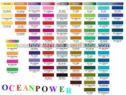258 items u0026 durable application paint color chart fandeck card