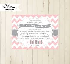 bring a book instead of a card baby shower baby shower book insert bring a book card printable bring a