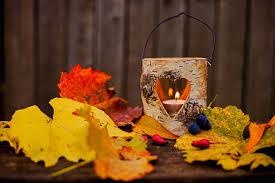 autumn leaves candle lantern lamp love autumn leaves