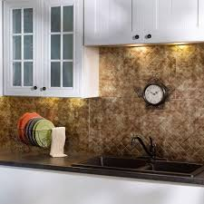 Fasade  In X  In Quilted PVC Decorative Backsplash Panel In - Backsplash panel