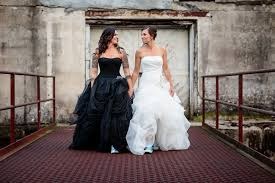 and black wedding 23 wedding dresses for brides who think white is trite huffpost