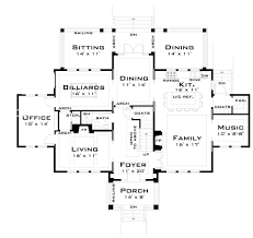 for the large family 44040td architectural designs house plans for the large family 44040td floor plan main level