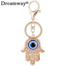 unique key ring evil eye lucky charm amulet hamsa keychains girl bag pendant
