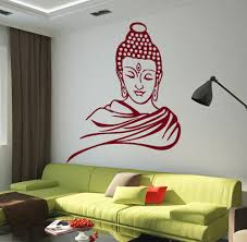 compare prices on wall decals murals online shopping buy low religious buddha head removable vinyl wall stickers art mural wall decals home decor living room study