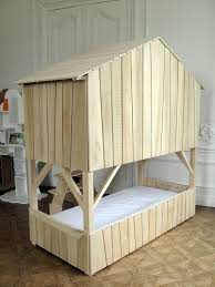 Treehouse Bunk Bed In Natural Lime Wood From Mathy By Bols - Treehouse bunk beds