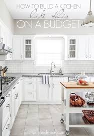 white kitchen cabinets and floors budgeting tips for a kitchen renovation maison de pax