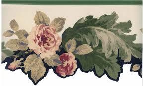Chair Rail Wallpaper Border - die cut victorian roses wallpaper border