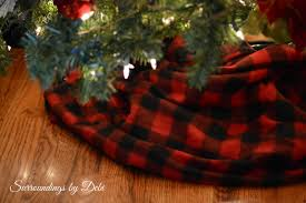 Poinsettia Christmas Tree Skirt Christmas Tree In Red And Black Surroundings By Debi