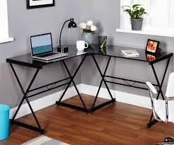Black Glass L Shaped Desk Black Glass L Shaped Desk New Furniture