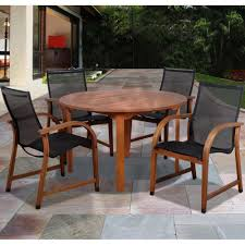 Tahoe 5 Piece Patio Dining Set - round mosaic dining set seats 6 patio dining sets at hayneedle