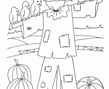 scarecrow coloring pages funycoloring