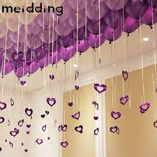 s day decorations for home meidding hollow heart diy hanging ballon decor home wall door decor