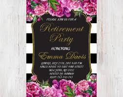 retirement invitations retirement invite etsy