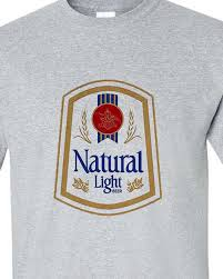 natty light t shirt natural light beer t shirt retro vintage style distressed print grey