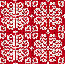 christmas pattern knit fabric knitted fabric christmas pattern vector set free vector in