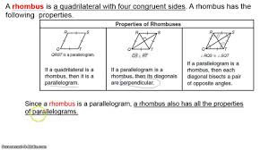 properties of parallelograms worksheet special parallelograms