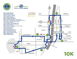 Running Map Route by River Bank Run 2017 Race Routes Spectator Spots Wzzm13 Com