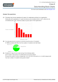 class 8 math worksheets and problems data handling basic charts