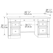 Desk Drawer Dimensions Palladia Executive Desk By Sauder