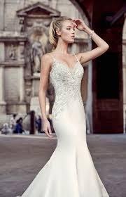 lace coats the bodice of mori lee blu 5312 wedding dress