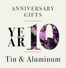 tin aluminum anniversary gifts our guide to 10th anniversary gifts in your elements tin and