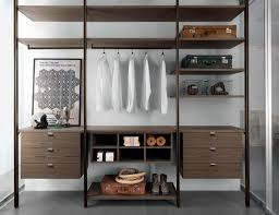 wall mounted walk in wardrobe contemporary wooden glass
