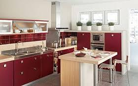 cuisine couleur bordeaux brillant cuisine tandem chez lapeyre la maison aménager sa cuisine avec