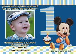 mickey mouse first birthday invitation baby mickey mouse