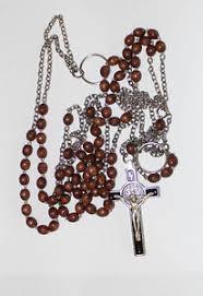 franciscan crown rosary franciscan crown rosary 7 decade wood on chain handmade