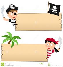 pirates and wooden banner stock photo image 30428150