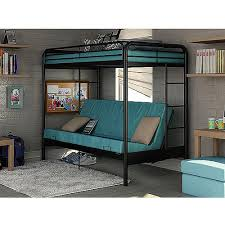 Dorel Twin Over Futon Bunk Bed With Set Of  Mattress Black Kids - Futon bunk bed with mattresses