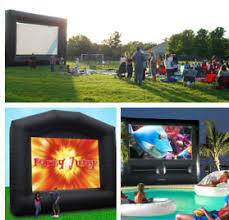 outdoor movie screen rentals north bay area inflatable movie screens