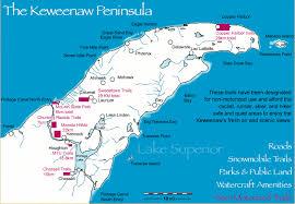 map of calumet michigan snowshoe and cross country skiing keweenaw michigan