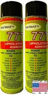 Upholstery Glue For Cars Amazon Com 1 Can Polymat 777 12oz Aerosol Spray Glue Fast Tack