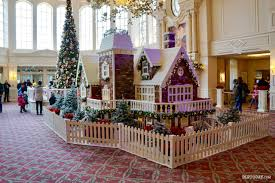 When Is Disney Decorated For Christmas The Disneyland Hotel Christmas Gingerbread House U2014 In